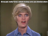 Florence Henderson hereby calls you an attention whore