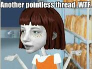 Angela does not approve of threads that are pointless