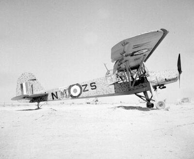 Captured Fi 156 North Africa in RAF service
