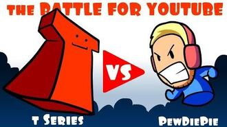The Battle For YouTube - Pewdiepie vs T Series - * An Animated Short *