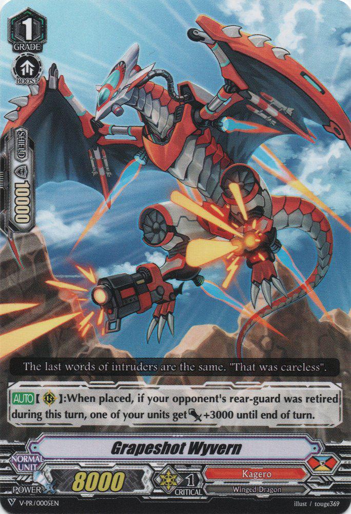 V-PR//0005EN Promo Card Grapeshot Wyvern Cardfight Vanguard