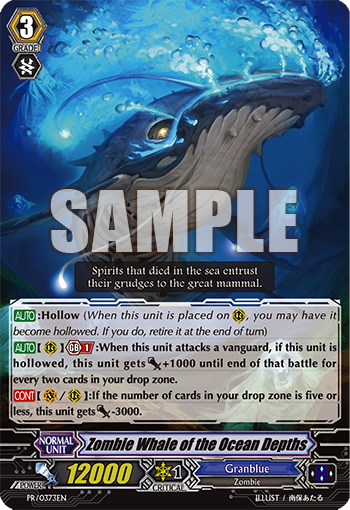 Zombie Whale Of The Ocean Depths Cardfight Vanguard Wiki