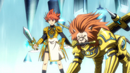Knight of Early Dawn, Coel & Scarface Lion (Anime-NX-NC)