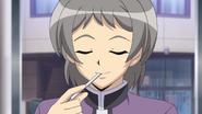 Tatsuya with thermometer
