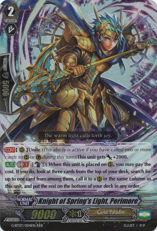 Knight Of Spring S Light Perimore Cardfight Vanguard