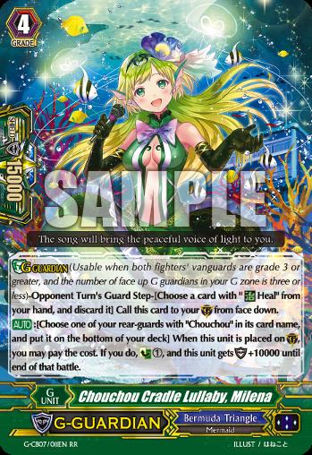 Milena Chouchou Cradle Lullaby Cardfight Vanguard Card G-CB07//011EN RR