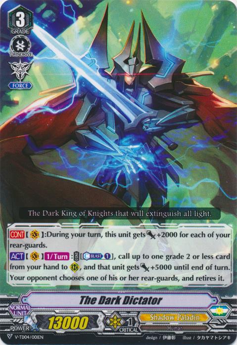 Blaster Dark Rapier Dagger Cardfight Vanguard Shadow Paladin Standard Deck