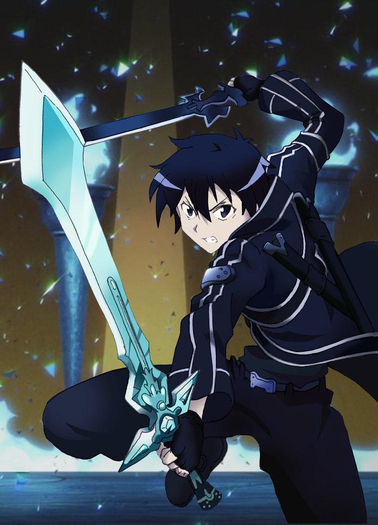 Sao Sword Art Online Kirito Dual Wield By Miizu Kun D5dvytb