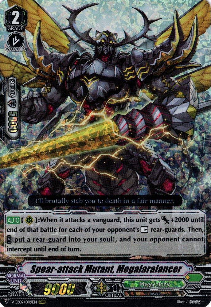 RRR Megalaralancer Cardfight Vanguard  x 1 Spear-attack Mutant V-EB09//009EN