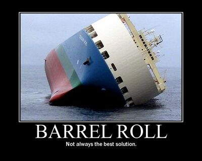 Barrel-roll-barge