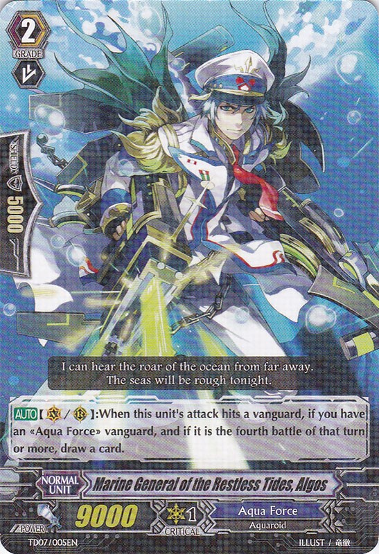 CARDFIGHT VANGUARD Aqua Force Deck 1 w// Advance Party Brave Shooter