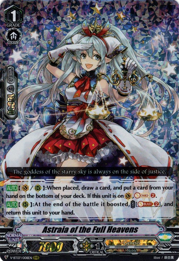 Genesis Astraia of the Full Heavens V-BT07//008EN RRR Cardfight! Vanguard