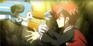 Chrono and Chrono Dran hugging