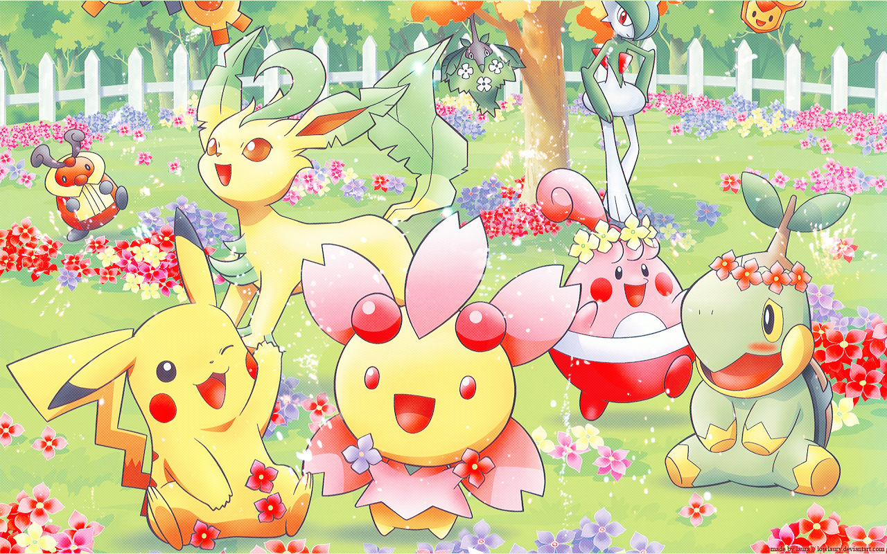 Photos Pokemon Cute Minitokyo Pok Mon Spring Wallpaper