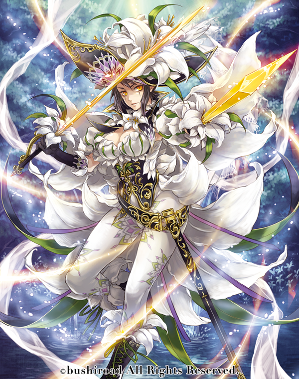 image white lily musketeer captain cecilia full art