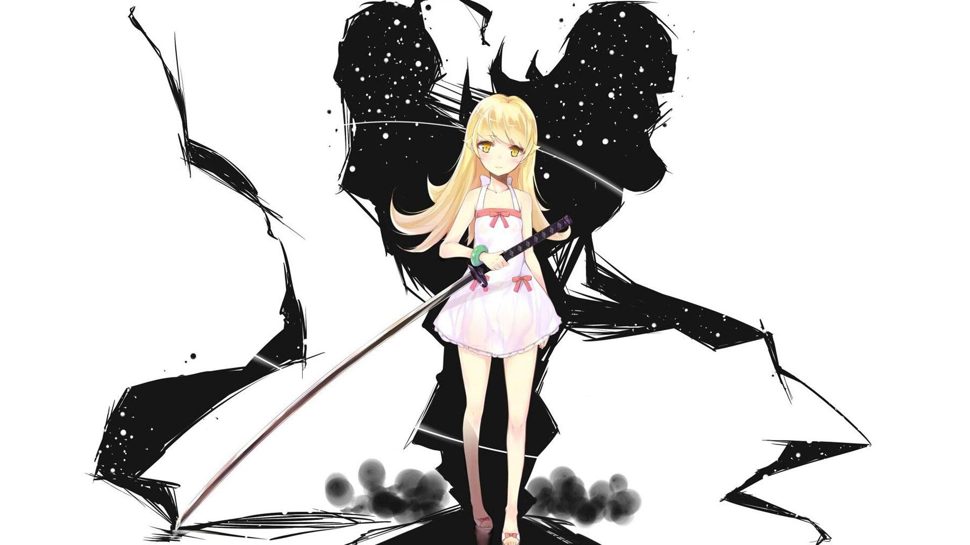 Shinobu Oshino Bakemonogatari Anime Hd Wallpaper 1920x1080 9514