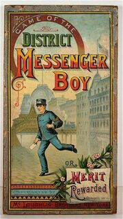 District Messenger Boy Box Cover 1886