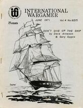 International Wargamer cover, June 1971