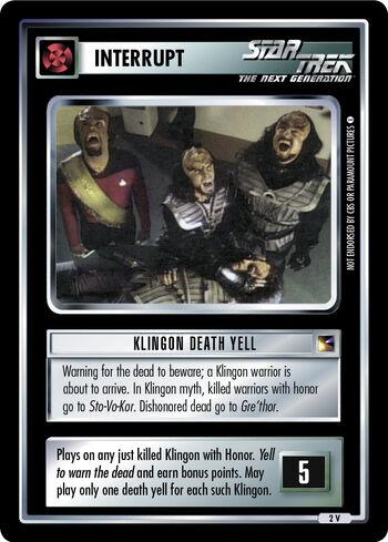 Klingondeathyell CoA