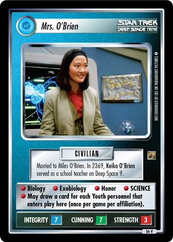 Verzamelingen Star Trek CCG Fajo Collection Miles O'Brien kaartspellen