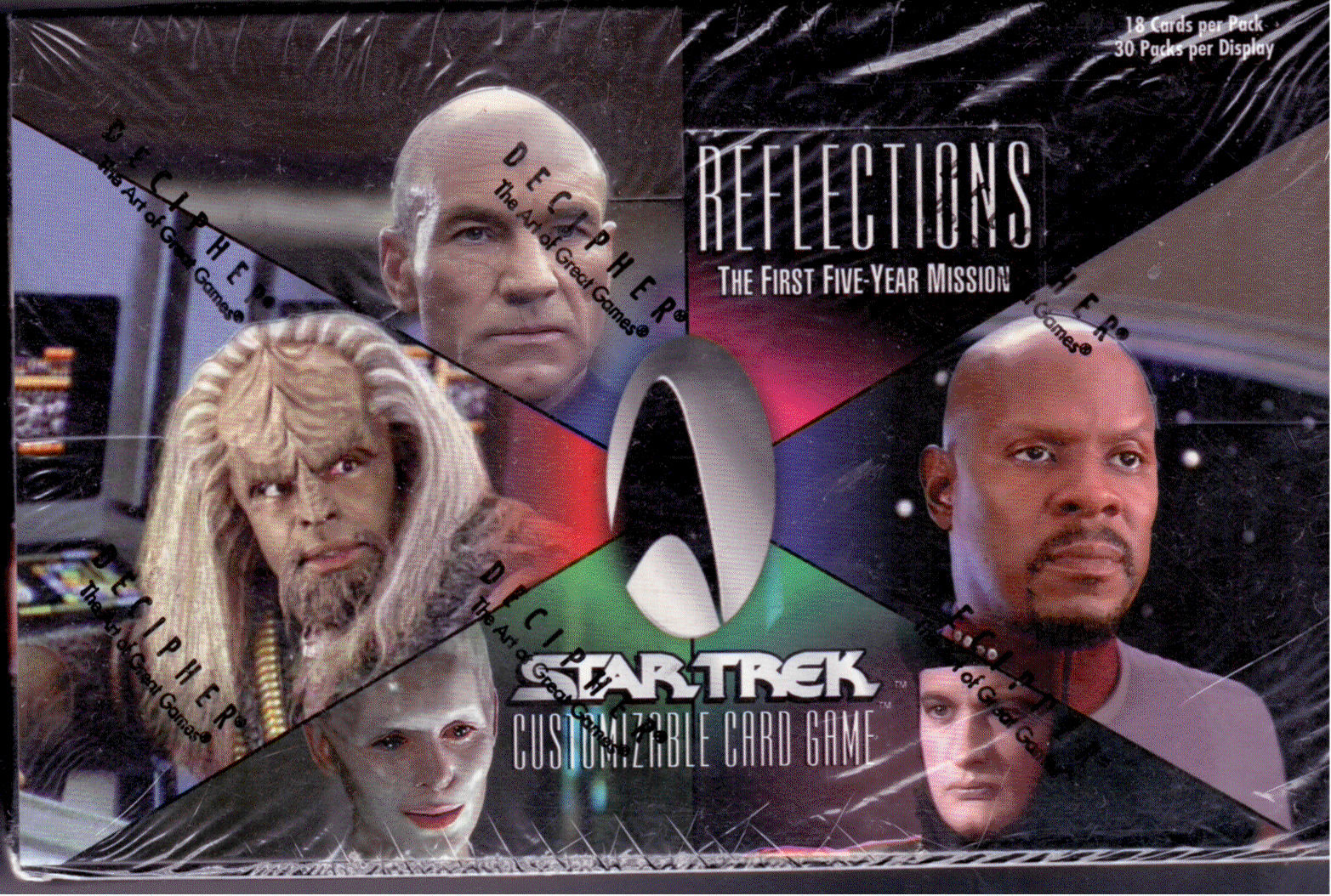STAR TREK CCG REFLECTIONS SUPER RARE GEORDI LAFORGE