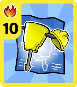 Level 10 Fire Jackhammer card