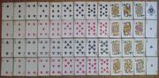 Set of playing cards 52
