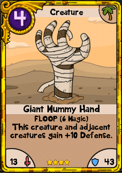Gold Giant Mummy Hand