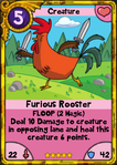 Gold Furious Rooster