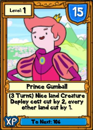 Prince Gumball Hero Card