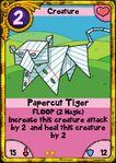 Papercut Tiger gold