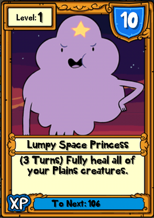 Lumpy Space Princess Hero Card