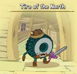 Tire north