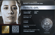 District 4 Tribute Girl ID Card