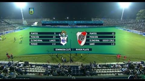 Fútbol en vivo. Gimnasia L.P. - River. Fecha 7. Torneo de Primera División 2015. FPT.