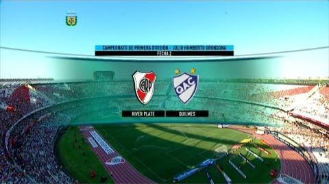 Fútbol en vivo. River - Quilmes .Fecha 2. Torneo de Primera División 2015. FPT