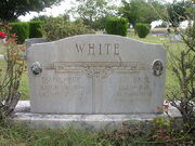 Jim and Fannie White Headstone