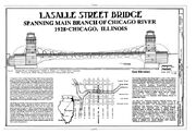 Chicago River Bascule Bridge, LaSalle Street, Chicago
