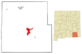 Eddy County New Mexico Incorporated and Unincorporated areas Carlsbad Highlighted svg.png
