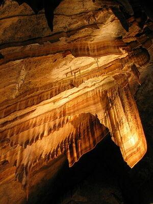 Gunns caves flowstone