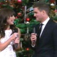 Carly with Michael Bublé on his NBC special, <i>Home for the Holidays</i>