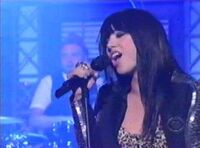 Carly on Late Show