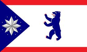 Flagge Burgue blau