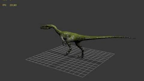 Carnivores Dinosaur Hunter Coelophysis walk animation