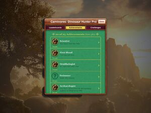 Carnivores Dinosaur Hunter HD achievements