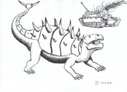 Prehistoric at weapon by isla nublar crew