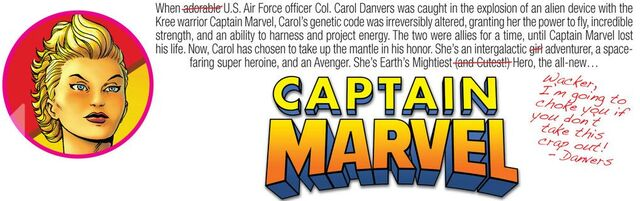 File:Introduction to Captain Marvel from Avenging Spider-Man 9.JPG