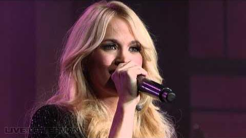 Carrie Underwood - Before He Cheats (Live on Letterman)