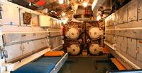 Inside a submarine