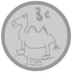 3 euros camel coin